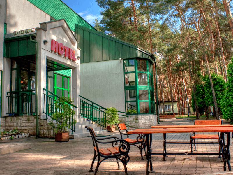 Przed wejściem - Hotel Energetyk