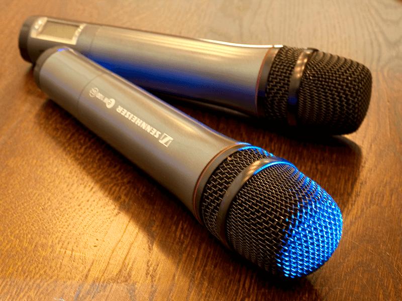 Mikrofony w sali konferencyjnej - Hotel Energetyk